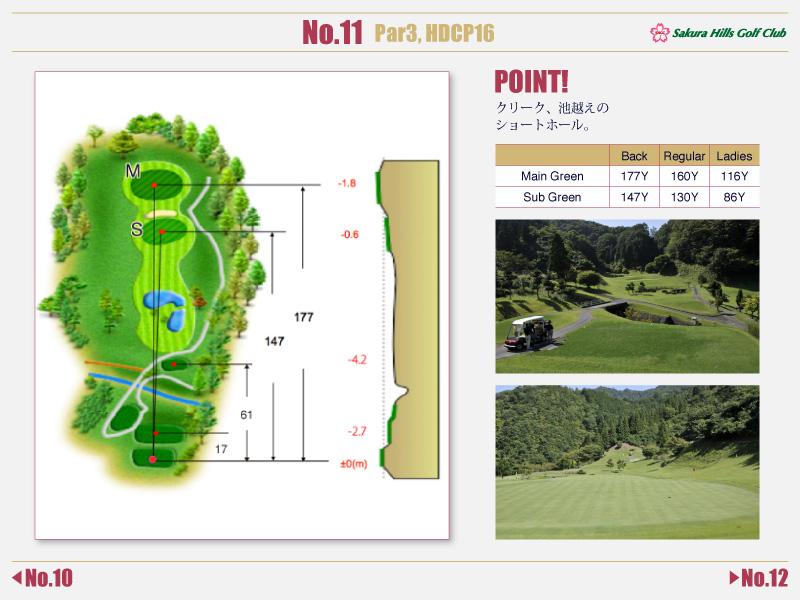 桜ヒルズゴルフクラブ Course detail No.11