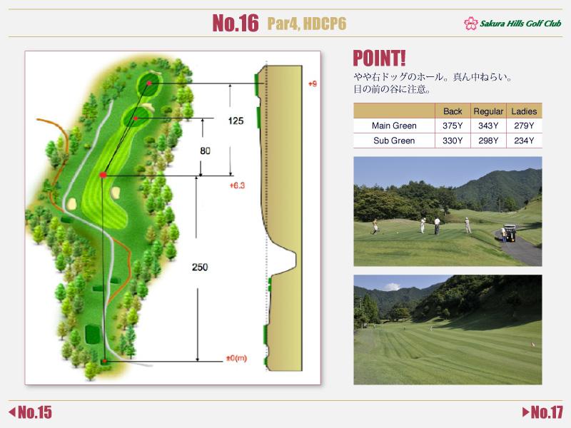 桜ヒルズゴルフクラブ Course detail No.16