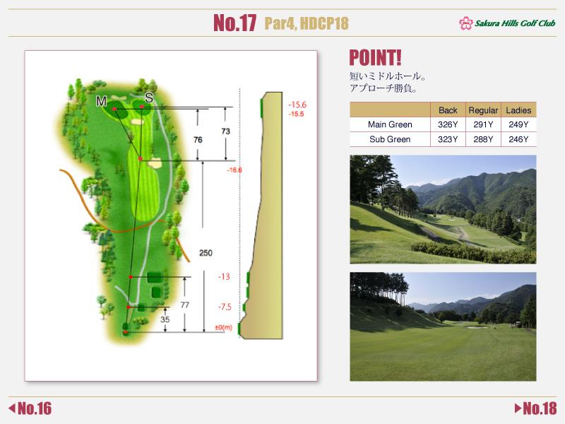 桜ヒルズゴルフクラブ Course detail No.17